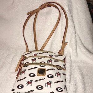 Dooney & Bourke GA bulldogs cross body purse